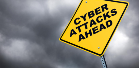 notice board about cyber risk ahead